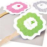 MOD Pattern Theme Personalized Paddle Fans