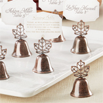 Maple Leaf Bell Place Card Holder - 24 pcs