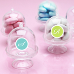 Mini Bell Jar with Pedestal - 6 pcs