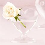 Mini Blown Glass Heart Vases - 4 pcs