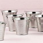 Miniature Galvanized Buckets