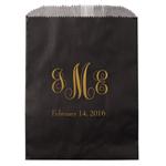Monogram Lined Party Favor Bags - 25 pcs