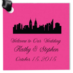 New York Personalized Square Hang Tags