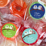 Owl Bride and Groom Personalized Life Saver Candies