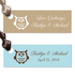 Owl Rectangular Personalized Hang Tags