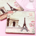 Paris Themed Coaster Sets