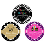Personalized Birthday Round Favor Labels