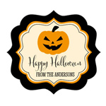 Personalized Classic Halloween Frame Labels