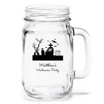 Personalized Halloween Mason Jar Drinking Glass