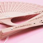Personalized Sandalwood Fan Favors