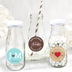 Personalized Wedding Vintage Milk Favor Jars