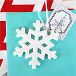 Porcelain Snowflake Ornament (with Personalized Tag)