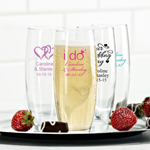 Exclusive Personalized Stemless Champagne Flute