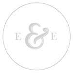Simple Ampersand Monogram Simplicity Small Sticker