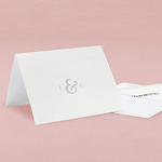 Simple Ampersand Monogram Simplicity Thank You Card With Fold
