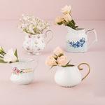Vintage Creamer Assortment Favor Vase Set - Set of 4