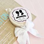 Vintage Wedding Personalized Lollipop Favors