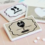 Vintage Wedding Personalized Mini Mint Favors