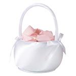White Satin Flower Basket