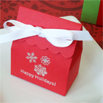 Winter Theme Personalized Scalloped Favor Bag
