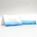 Aqueous Place Card with Fold