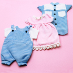 Baby Girl Dress or Baby Boy Overalls Favor Bags