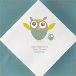 Baby Owl Personalized Napkins - 50 pcs