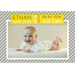 Baby Photo Birth Announcement Magnets - 20 pcs
