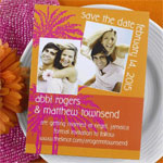 Beach Photo Save the Date Magnets - 25 pcs