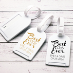 Best Day Ever Personalized Luggage Tag Favor