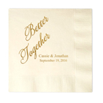 Better Together Personalized Napkins - 25 pcs
