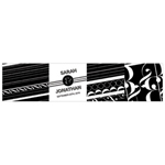 Black and White Favor Box Wrap