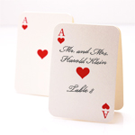 Blank Playing Card Place Cards - 25 pcs