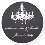 Chalkboard Personalized Round Labels - 20 pieces