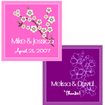 Cherry Blossom Personalized Hang tags and Stickers