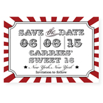 Circus Save the Date Magnet - 10 pieces