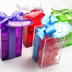 Crystal Clear Colored Favor Boxes - 25 pieces
