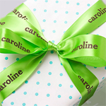 Wide Personalized Continuous Wedding Ribbon - 10 yds