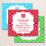 Double Happiness Save the Date Magnets - 10 pieces