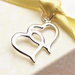 Double Hearts Charms - 20 pcs