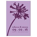 Elegant Blossom Save the Date Magnets - 20 pcs