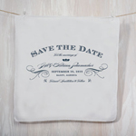 Elegant Type Save the Date Personalized Handkerchief