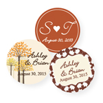 Fall Personalized Round Labels - 20 pieces