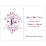 Fanciful Monogram Save the Date Card