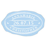 Faux Oval Wax Seal Personalized Labels