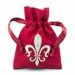 Fleur De Lis Favor Bags - 12 pcs