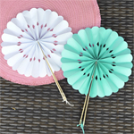 Floral Bamboo Paper Hand Fans