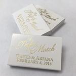 The Perfect Match Gold Foil Design 50pcs