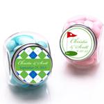 Golf Personalized Mini Glass Candy Jars