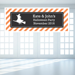 Pattern Halloween Personalized Banner